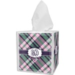 Plaid with Pop Tissue Box Cover (Personalized)