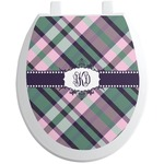 Plaid with Pop Toilet Seat Decal (Personalized)