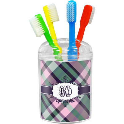 Plaid with Pop Toothbrush Holder (Personalized)