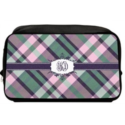 Plaid with Pop Toiletry Bag / Dopp Kit (Personalized)