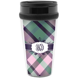 Plaid with Pop Travel Mugs (Personalized)