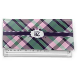 Plaid with Pop Vinyl Checkbook Cover (Personalized)