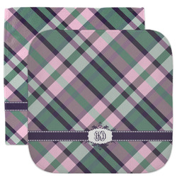 Plaid with Pop Facecloth / Wash Cloth (Personalized)