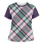 Plaid with Pop Women's Crew T-Shirt (Personalized)