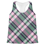Plaid with Pop Womens Racerback Tank Top (Personalized)