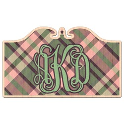 Plaid with Pop Genuine Wood Sticker (Personalized)