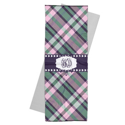 Plaid with Pop Yoga Mat Towel (Personalized)