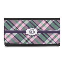 Plaid with Pop Leatherette Ladies Wallet (Personalized)