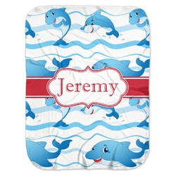 Dolphins Baby Swaddling Blanket (Personalized)