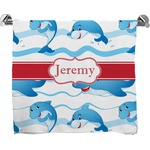 Dolphins Full Print Bath Towel (Personalized)