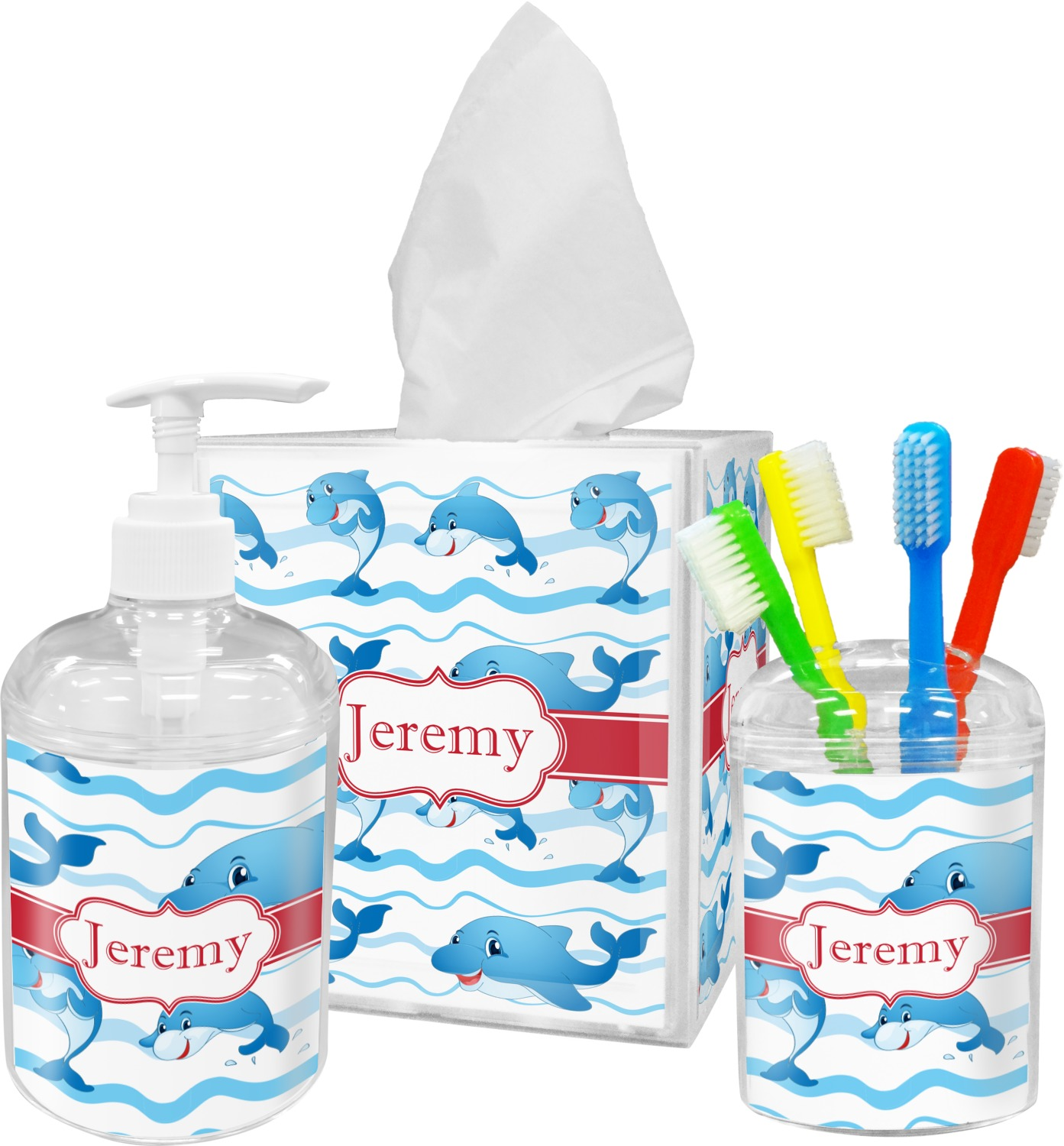 dolphins toothbrush holder personalized you customize it