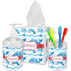 Dolphins Bathroom Accessories Set (Personalized)