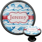 Dolphins Cabinet Knob (Black) (Personalized)