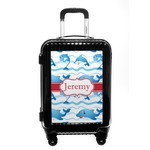 Dolphins Carry On Hard Shell Suitcase (Personalized)