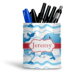 Dolphins Ceramic Pen Holder