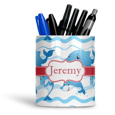 Dolphins Ceramic Pen Holder