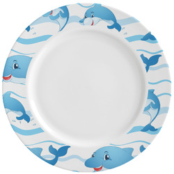 Dolphins Ceramic Dinner Plates (Set of 4) (Personalized)