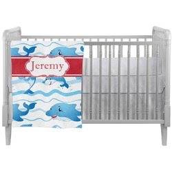 Dolphins Crib Comforter / Quilt (Personalized)