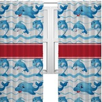 Dolphins Curtains (2 Panels Per Set) (Personalized)