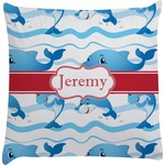 Dolphins Decorative Pillow Case (Personalized)