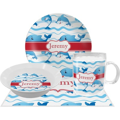 Dolphins Dinner Set - 4 Pc (Personalized)