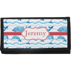 Dolphins Canvas Checkbook Cover (Personalized)