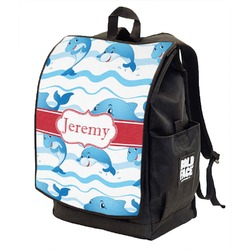 Dolphins Backpack w/ Front Flap  (Personalized)