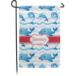 Dolphins Garden Flag - Single or Double Sided (Personalized)