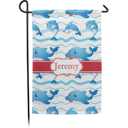 Dolphins Garden Flag (Personalized)