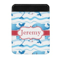 Dolphins Genuine Leather Money Clip (Personalized)
