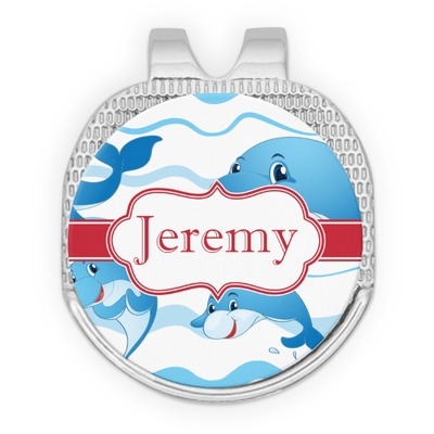 Dolphins Golf Ball Marker - Hat Clip - Silver