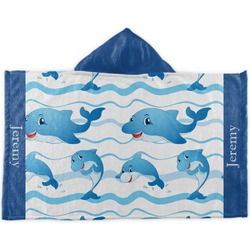 Dolphins Kids Hooded Towel (Personalized)