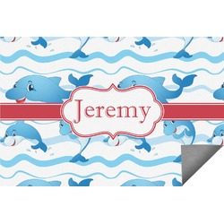 Dolphins Indoor / Outdoor Rug (Personalized)
