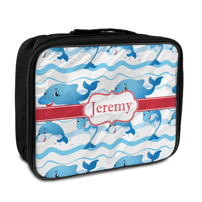 Dolphins Insulated Lunch Bag (Personalized)