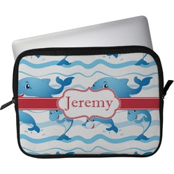 """Dolphins Laptop Sleeve / Case - 15"""" (Personalized)"""
