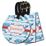 Dolphins Plastic Luggage Tags (Personalized)