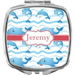 Dolphins Compact Makeup Mirror (Personalized)