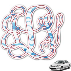 Dolphins Monogram Car Decal (Personalized)