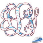 Dolphins Monogram Iron On Transfer (Personalized)
