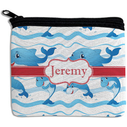Dolphins Rectangular Coin Purse (Personalized)