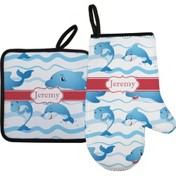 Dolphins Oven Mitt & Pot Holder (Personalized)