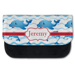 Dolphins Canvas Pencil Case w/ Name or Text