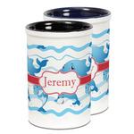 Dolphins Ceramic Pencil Holder - Large