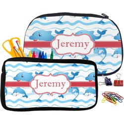Dolphins Neoprene Pencil Case (Personalized)