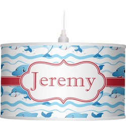Dolphins Drum Pendant Lamp (Personalized)
