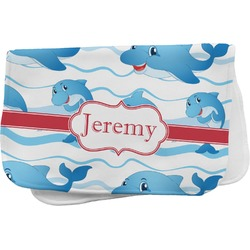 Dolphins Burp Cloth (Personalized)