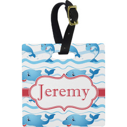 Dolphins Square Luggage Tag (Personalized)