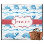 Dolphins Outdoor Picnic Blanket (Personalized)