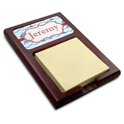 Dolphins Red Mahogany Sticky Note Holder (Personalized)