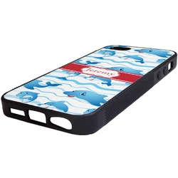 Dolphins Rubber iPhone 5/5S Phone Case (Personalized)